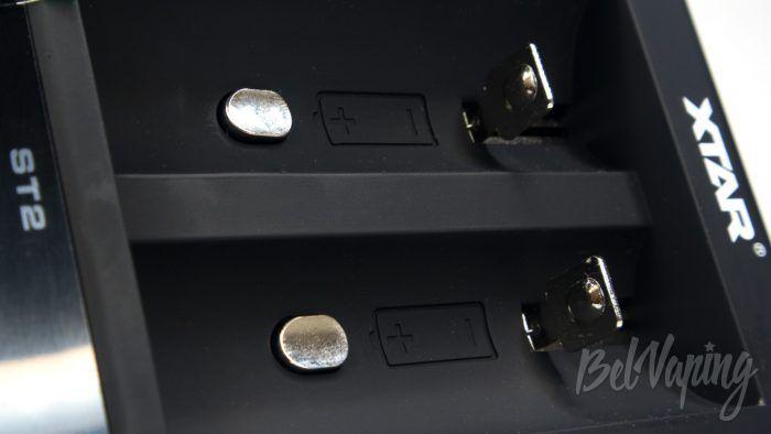 Зарядное устройство XTAR ST2 - термодатчики
