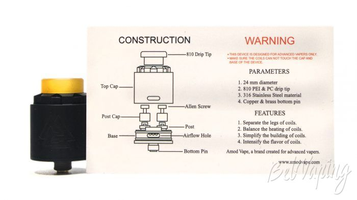 Amodvape VALR RDA - инструкция
