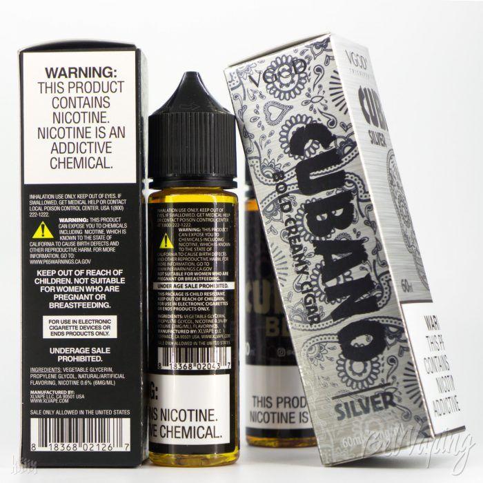 Коробка и этикетка жидкости VGOD CIGAR LINE