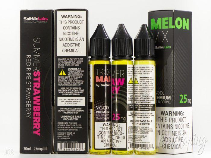Упаковка, тара и этикетка жидкости VGOD SaltNic eLiquid