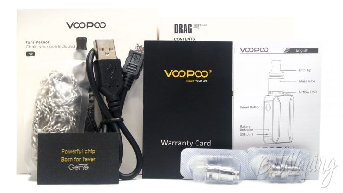 Voopoo DRAG BABY TRIO KIT - комплект поставки