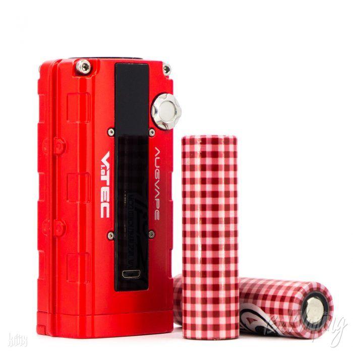 Augvape VTEC 1.8 Mod рядом с аккумуляторами 18650