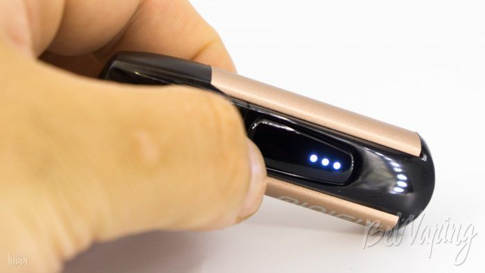 Индикация заряда аккумулятора Justfog Minifit