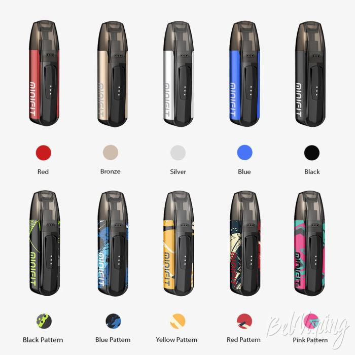 Новые варианты цветов Justfog Minifit
