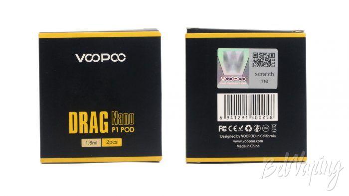 Voopoo DRAG NANO P1 POD KIT - упаковка картриджей P1