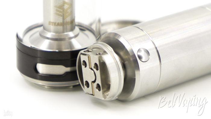 Установка базы Aromamizer Plus RDTA на батарейный блок