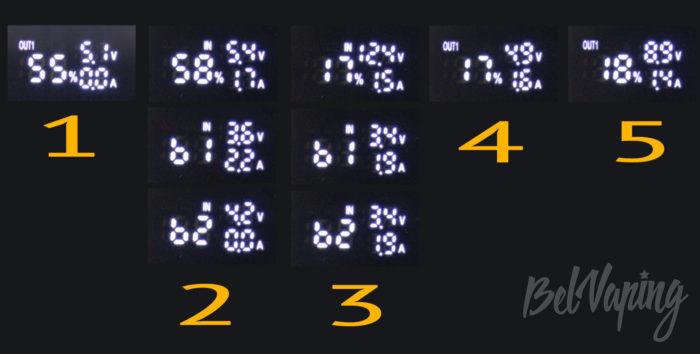 Зарядное устройство и пoвербанк Xtar PB2S - индикация работы