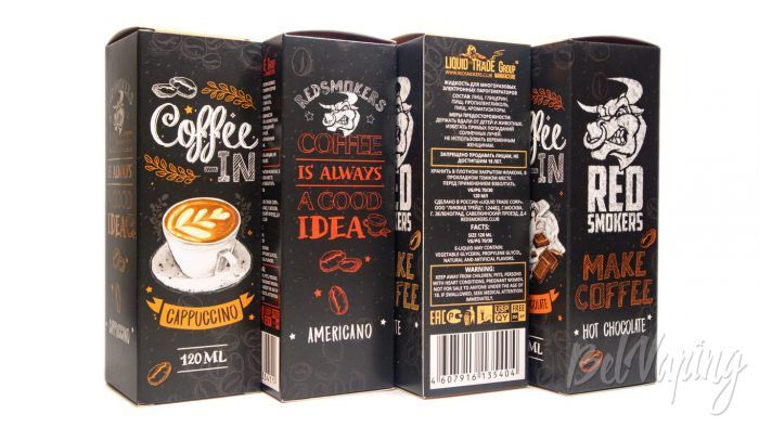 Жидкости COFFEE IN от Red Smokers - упаковка