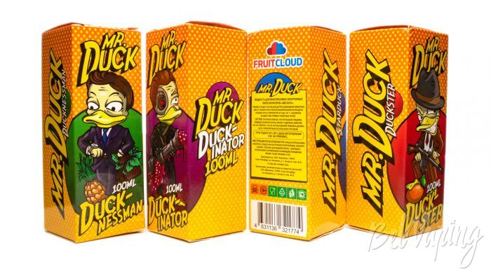Жидкости MR.DUCK от FruitCloud - упаковка