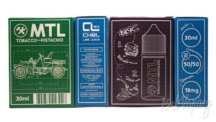Жидкости MTL от ChelLab - упаковка