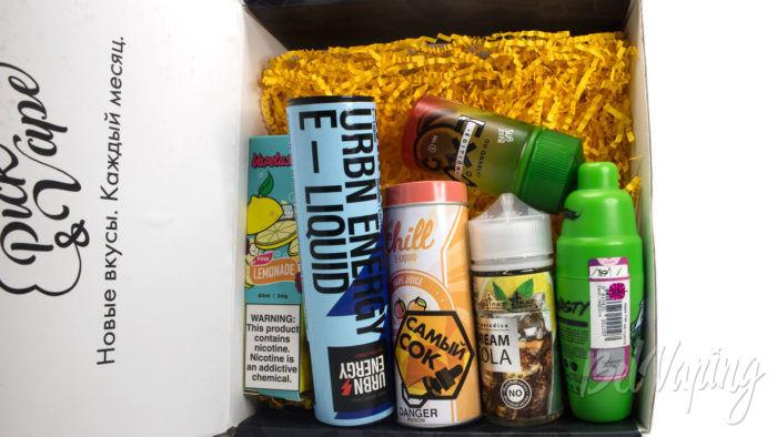 Набор жидкостей от PICK & VAPE - что в коробке