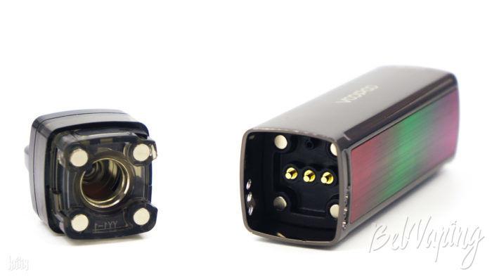 Подключение картриджа к батарейному блоку Voopoo Vinci Mod Pod