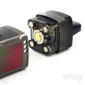 Подключение картриджа к батарейному блоку для свободной затяжки Voopoo Vinci Mod Pod