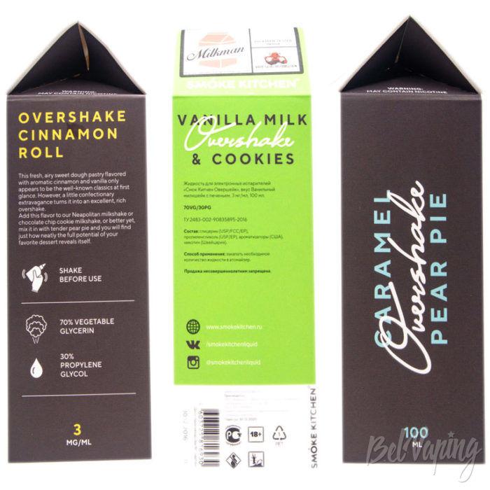 Жидкости OVERSHAKE от SmokeKitchen - упаковка
