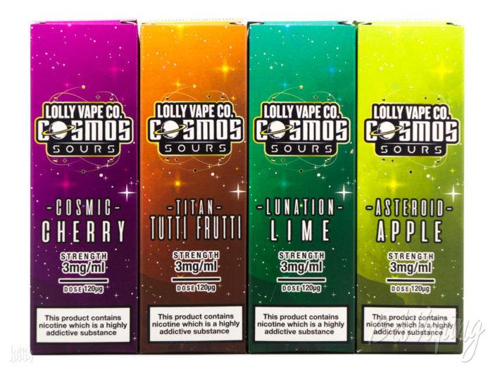 Упаковка жидкости Lolly Vape Co. Cosmos Sours
