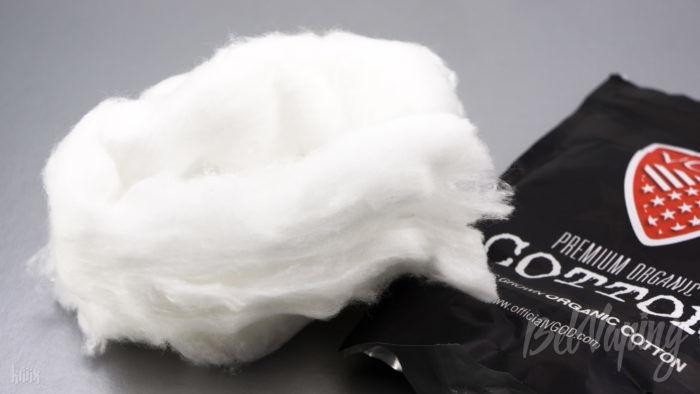 Внешний вид хлопка VGOD Premium Organic Vape Cotton