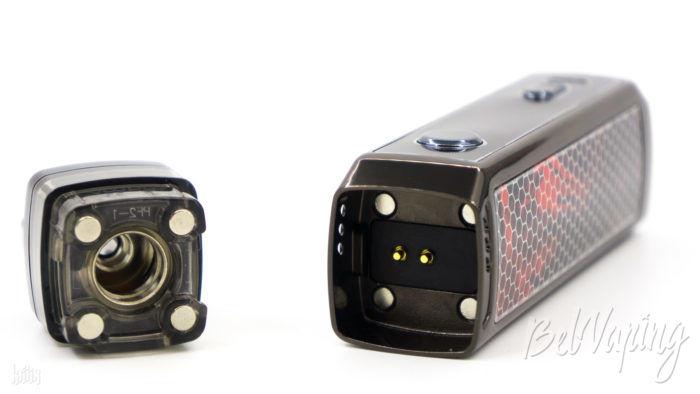 Подключение картриджа к батарейному блоку Voopoo Vinci X Mod Pod