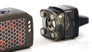 Подключение картриджа к батарейному блоку для тугой затяжки Voopoo Vinci X Mod Pod