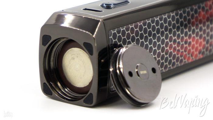 Установка аккумулятора в Voopoo Vinci X Mod Pod