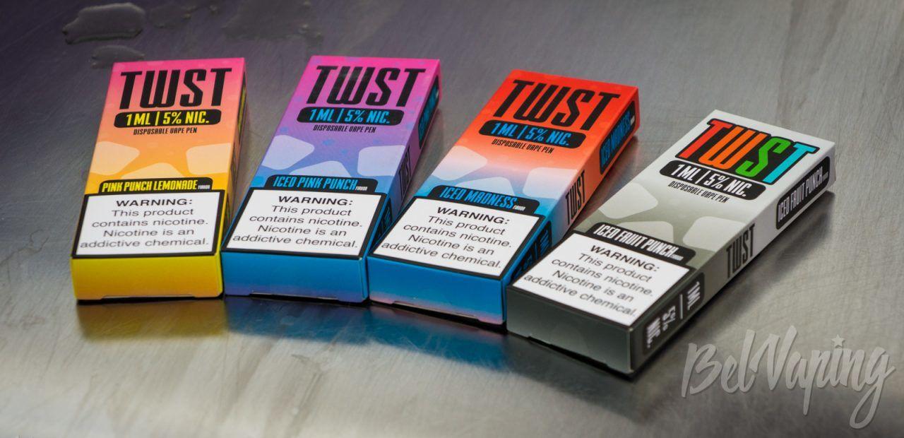 Обзор одноразовой электронной сигареты TWST DISPOSABLE VAPE PEN от Twist E-Liquid