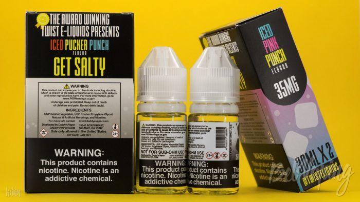 Упаковка, тара и этикетка жидкости TWST SALT