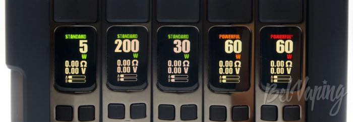 Wotofo DYADIC Box Mod - экран и возможности