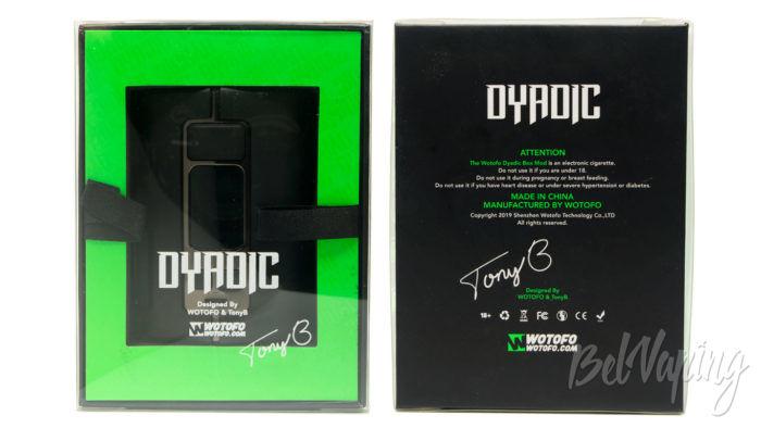 Wotofo DYADIC Box Mod - упаковка
