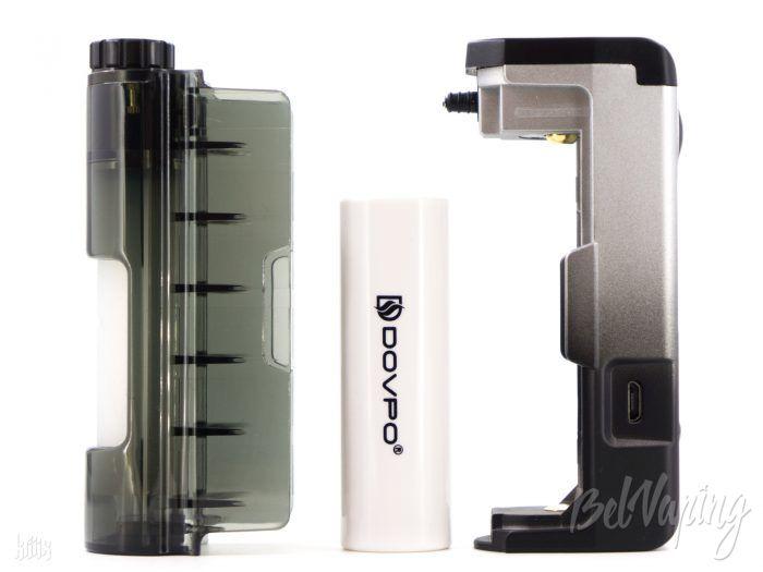 Крышка с банкой и адаптер для 18650 Dovpo Topside Lite