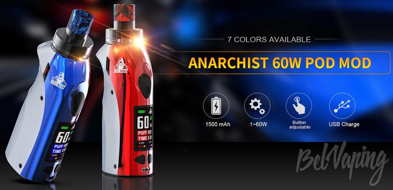 Kangvape Anarchist 60W Pod Mod. Первый взгляд