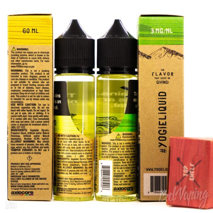 Упаковка, тара и этикетка Yogi Farms E-Liquid