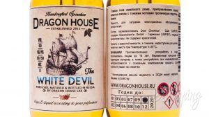 Крафтовые табачные жидкости от DRAGON HOUSE - информация на этикетке