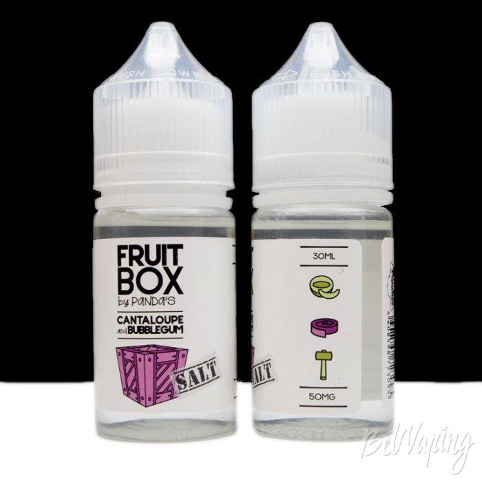 Солевые жидкости FRUIT BOX - вкус CANTALOUPE AND BUBBLEGUM