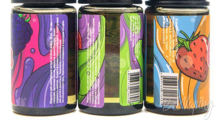 Солевые жидкости DRINKS & CANDIES - информация на этикетке