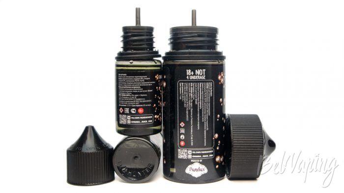 Жидкости COKE - флаконы и информация на этикетке
