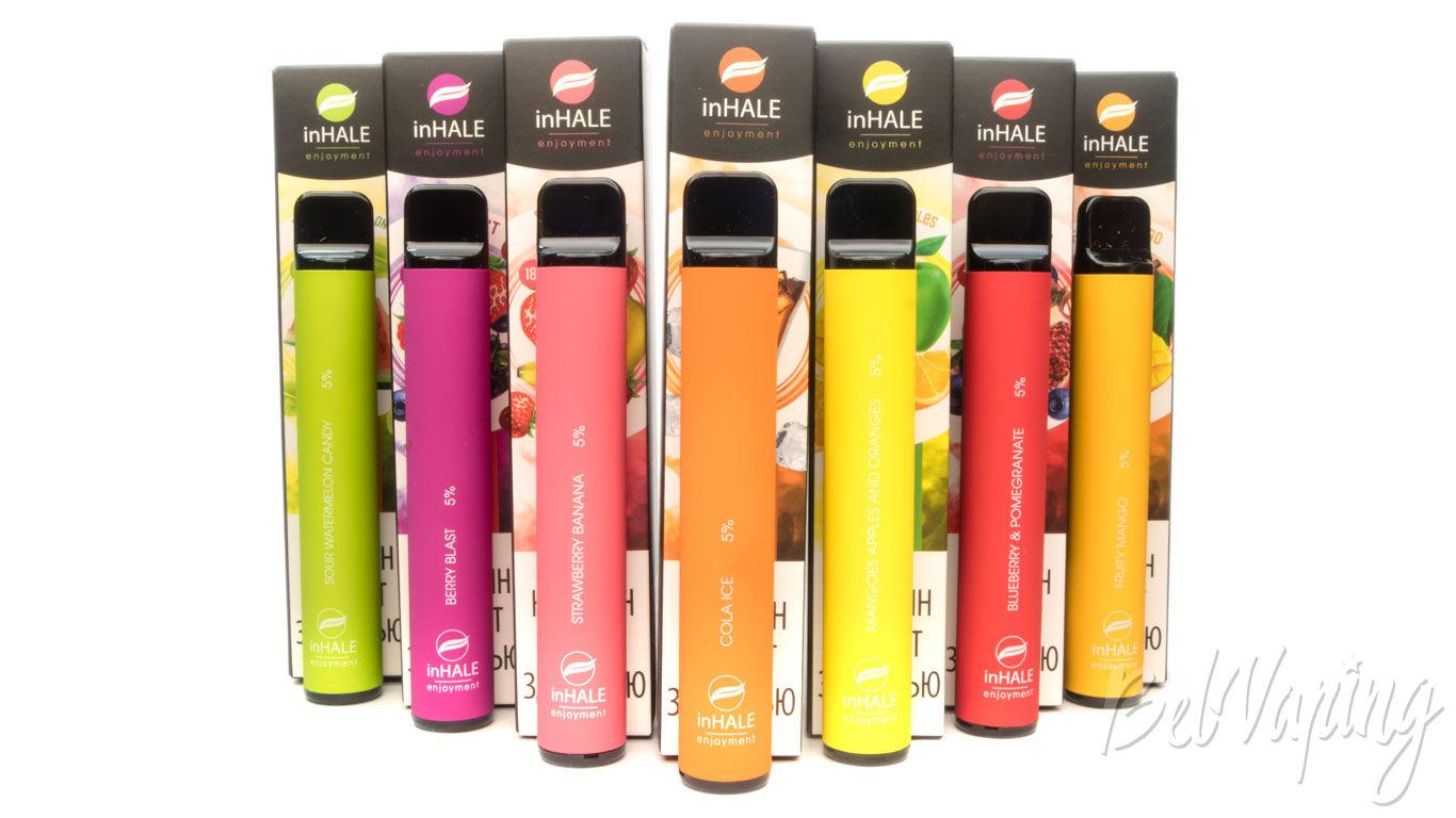 Inhale одноразовые электронные сигареты чем заправлять одноразовые электронные сигареты